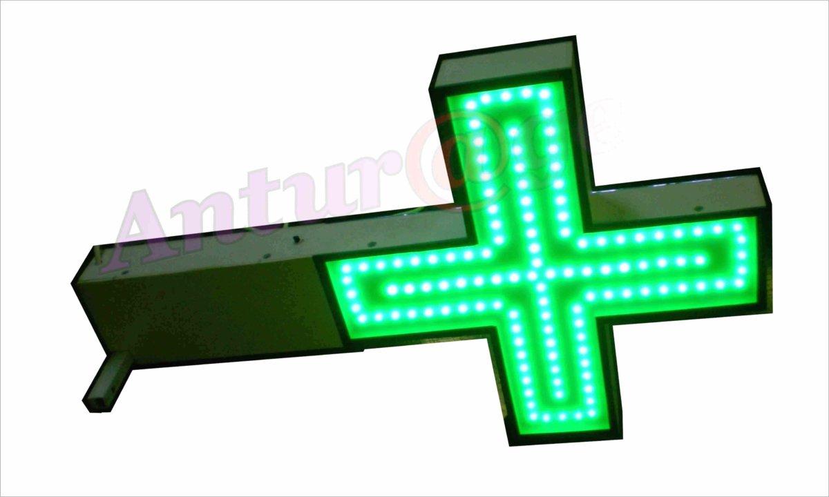 аптечный крест 400х400 мм светодиодная лента под стеклом